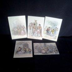 Postales: COLECCION DE 5 POSTALES HERMANOS ROVARGUE S. XIX - EDICIONES TURPIANA S.A. Lote 208494391