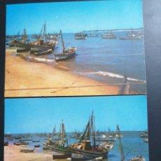 Postales: SANLUCAR DE BARRAMEDA, CÁDIZ. 2 BONITAS POSTALES DE BAJO GUÍA. Lote 209277031