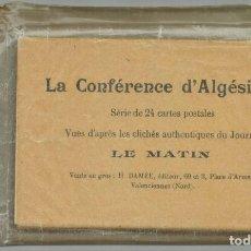 Postales: LA CONFERENCIA DE ALGECIRAS (1906). LOTE DE 24 POSTALES CON LAS INSTANTANEAS ORIGINALES.. Lote 209337840
