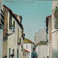 Postales: CÓRDOBA. UNA CALLE Y UN TIPO DEL PAÍS. SIN CIRCULAR.. Lote 209389570