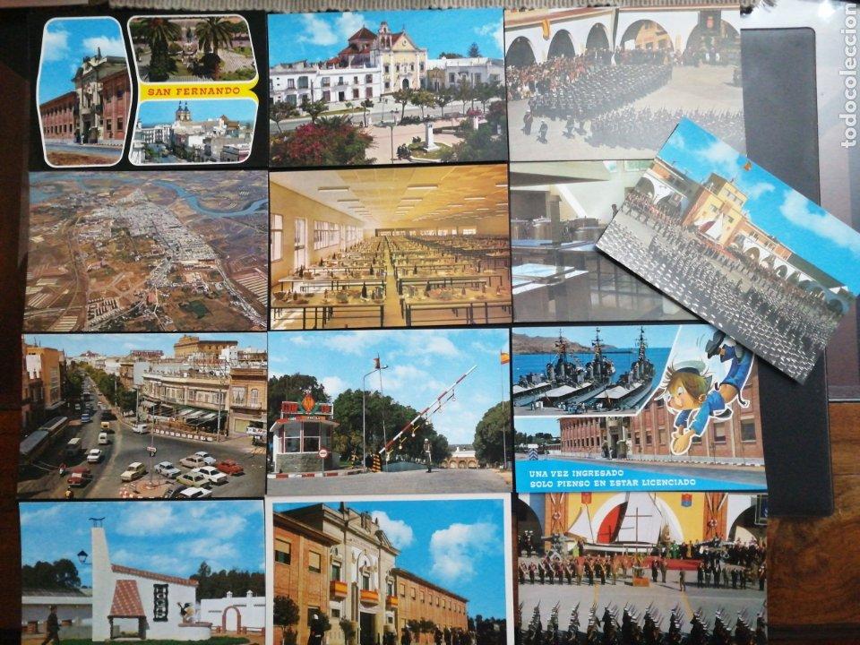 SAN FERNANDO, CÁDIZ. LOTE DE 13 POST. PAPELERÍA ALFA (Postales - España - Andalucia Moderna (desde 1.940))