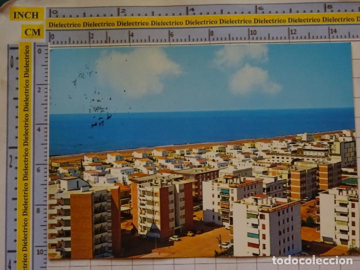 POSTAL DE HUELVA. AÑO 1977. LA ANTILLA LEPE VISTA GENERAL Y PLAYA. 2 ARRIBAS. 858 (Postales - España - Andalucia Moderna (desde 1.940))