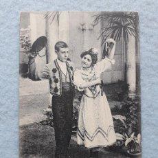 Postales: COSTUMBRES ANDALUZAS. NIÑOS CON TRAJE TÍPICO. FRANQUEADA EL 20 DE SEPTIEMBRE DE 1906.. Lote 210098687