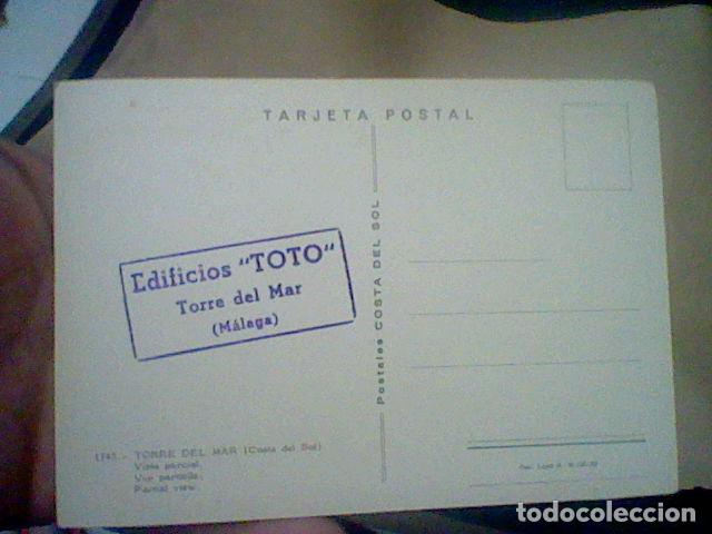 Postales: TORRE DEL MAR EDIF TOTO ED COSTA SOL CIRCULADA Nº 1745 S/C 15 X 10 CMS APROX - Foto 2 - 210221980