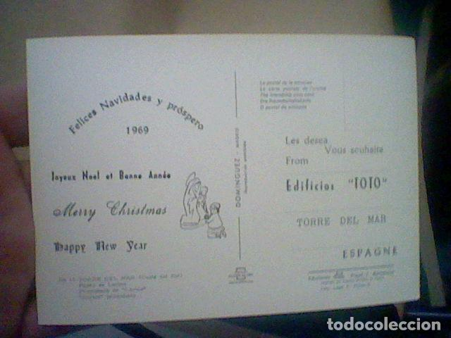 Postales: TORRE DEL MAR EDIF TOTO ED COSTA SOL CIRCULADA Nº 17 S/C 15 X 10 CMS APROX FELICITACION RARA * - Foto 2 - 210222460