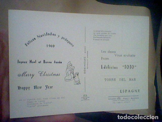 Postales: TORRE DEL MAR EDIF TOTO ED COSTA SOL CIRCULADA Nº 17 S/C 15 X 10 CMS APROX FELICITACION RARA ** - Foto 2 - 210222481