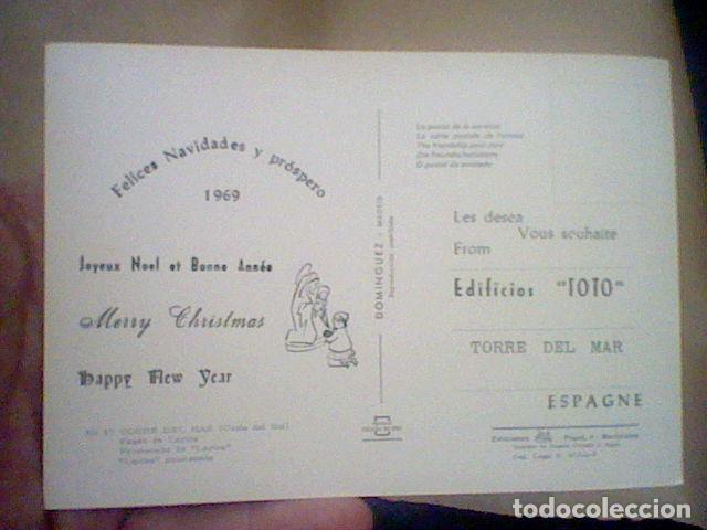 Postales: TORRE DEL MAR EDIF TOTO ED COSTA SOL CIRCULADA Nº 17 S/C 15 X 10 CMS APROX FELICITACION RARA *** - Foto 2 - 210222518