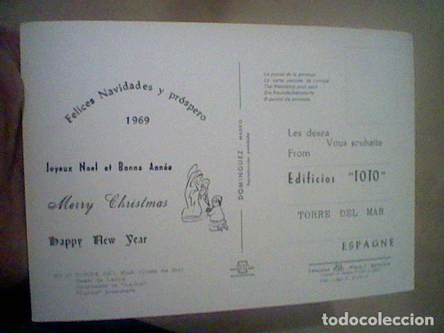 Postales: TORRE DEL MAR EDIF TOTO ED COSTA SOL CIRCULADA Nº 17 S/C 15 X 10 CMS APROX FELICITACION RARA **** - Foto 2 - 210222541