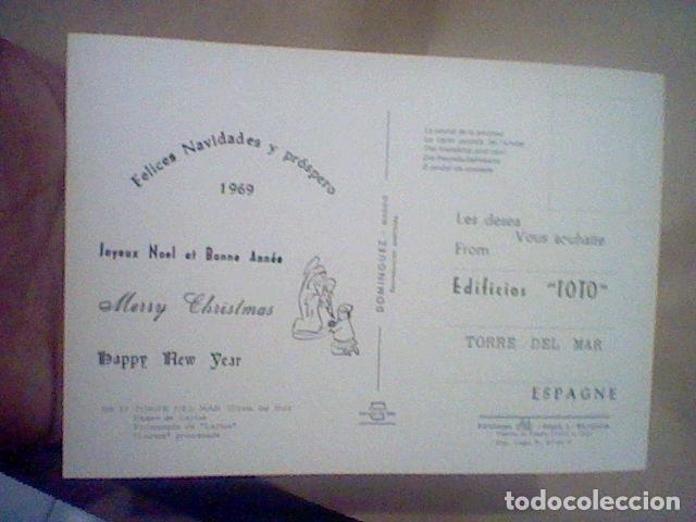 Postales: TORRE DEL MAR EDIF TOTO ED COSTA SOL CIRCULADA Nº 17 S/C 15 X 10 CMS APROX FELICITACION RARA ****** - Foto 2 - 210222655