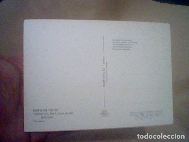 Postales: TORRE DEL MAR EDIF TOTO ED DOMINGUEZ CIRCULADA S/Nº S/C 15 X 10 CMS APROX - Foto 2 - 210223185