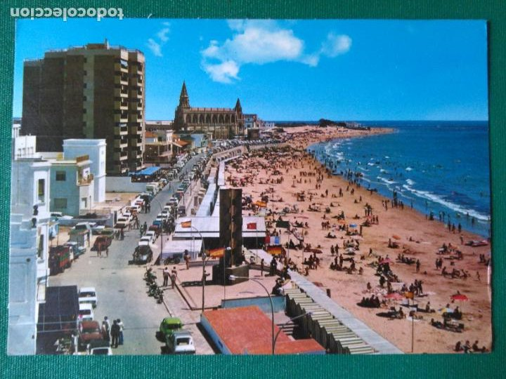 CADIZ - CHIPIONA - VISTA GENERAL DE LA PLAYA - ED. PERLA 3965 (Postales - España - Andalucia Moderna (desde 1.940))