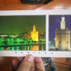 Postales: POSTAL SEVILLA TORRE DEL ORO PANORÁMICA N 5030 PRADO ARRUGADA ESQUINAS PELÍN TOCADAS. Lote 210567896