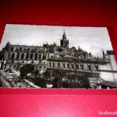 """Postales: SEVILLA """" CATEDRAL """" ESCRITA Y SELLADA 1954. Lote 210587253"""