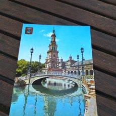 Postales: POSTAL 41 SEVILLA ESTANQUE DE LA PLAZA DE ESPAÑA. Lote 210587327