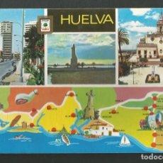 Postales: POSTAL SIN CIRCULAR - HUELVA 1423 - DIVERSOS ASPECTOS - EDITA ESCUDO DE ORO. Lote 210782017