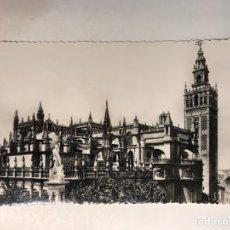 Postales: SEVILLA POSTAL TROQUELADA. NO.544, CATEDRAL. VISTA GENERAL. EDIC. ABELARDO LINARES (H.1950?). Lote 210785606