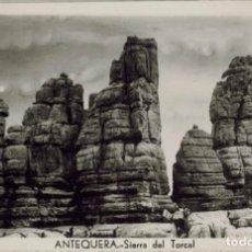 Postales: ANTEQUERA, MÁLAGA. SIERRA DEL TORCAL. FOTOGRÁFICA, CIRCULADA 1955. Lote 210795934