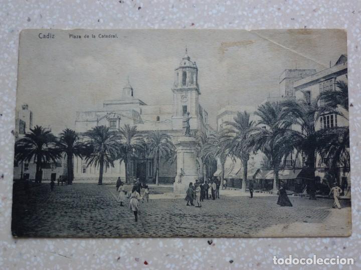 POSTAL CÁDIZ - PLAZA DE LA CATEDRAL -KNACKSTEDT - VER FOTOS (Postales - España - Andalucía Antigua (hasta 1939))
