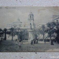 Postales: POSTAL CÁDIZ - PLAZA DE LA CATEDRAL -KNACKSTEDT - VER FOTOS. Lote 210958335