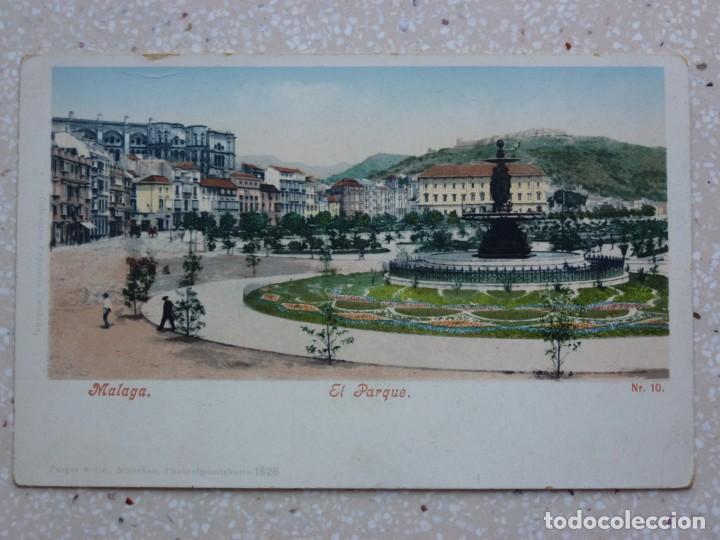 POSTAL MÁLAGA - EL PARQUE - PURGER 1826 (Postales - España - Andalucía Antigua (hasta 1939))