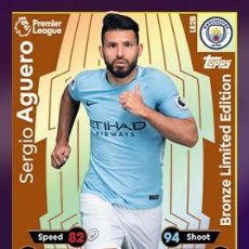 Postales: CARD TOPPS MATCH ATTAX SERGIO AGUERO BRONZE LIMITED EDITION MANCHESTER CITY. Lote 211623841