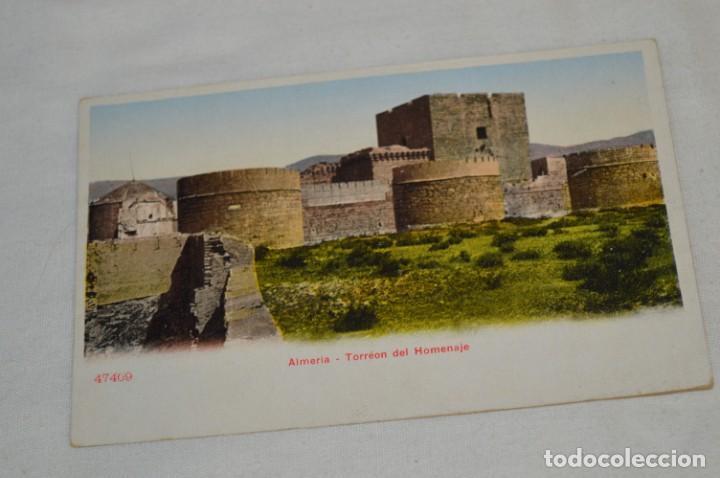 ALMERÍA - TORRÉ DEL HOMENAJE 47409 - ALMERÍA / SIN CIRCULAR, ANTIGUA Y ORIGINAL ¡MIRA! (Postales - España - Andalucía Antigua (hasta 1939))