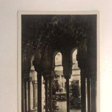 Postales: GRANADA POSTAL NO.110, ALHAMBRA, PATIO DE LOS LEONES. FOTO L. ROISIN (A.1948) ESCRITA... Lote 211724960