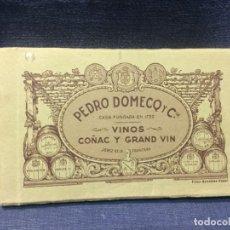 Postales: RARO BLOC 29 POSTALES PEDRO DOMECQ Y CA VINOS COÑAC GRAND VIN FOT GONZALEZ RAGEL. Lote 212301811