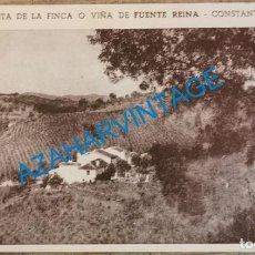 Cartoline: CONSTANTINA, SEVILLA, VISTA DE LA FINCA FUENTE REINA, REVERSO EN BLANCO, MUY RARA. Lote 213773728