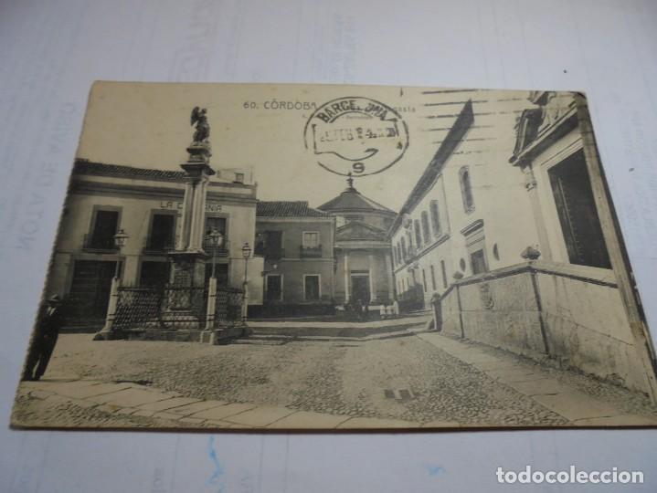 MAGNIFICA POSTAL ANTIGUA DE CORDOBA PLAZA DE SAGASTA (Postales - España - Andalucía Antigua (hasta 1939))