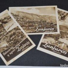 Postales: BALNEARIO Y AGUAS DE LANJARÓN (GRANADA) - LOTE DE 3 POSTALES / SIN CIRCULAR - AÑOS 50 - ¡MIRA FOTOS!. Lote 214899840