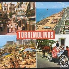 Postales: POSTAL CIRCULADA TORREMOLINOS COSTA DEL SOL - BAENA Nº1078. Lote 215850671
