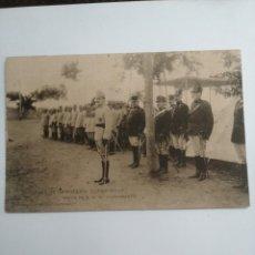 Postales: POSTAL ACADEMIA INFANTERÍA, VISITA S. M. ALFONSO XIII, CURSO 1913, 1914. Lote 215943466