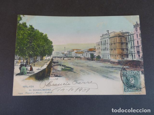 MALAGA EL GUADALMEDINA HAUSER Y MENET SIN DIVIDIR ILUMINADA (Postales - España - Andalucía Antigua (hasta 1939))