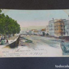 Postales: MALAGA EL GUADALMEDINA HAUSER Y MENET SIN DIVIDIR ILUMINADA. Lote 215981923
