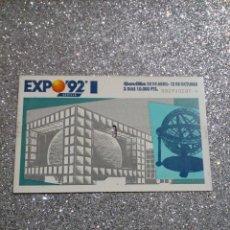 Postales: TICKET EXPO SEVILLA 92. Lote 217359022
