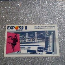 Postales: TICKET EXPO SEVILLA 92. Lote 217359117