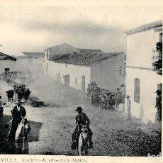 Postales: SEVILLA-ENCIERROS DE TOROS EN LA ALGABA-LAURENT Nº 50. Lote 217595563