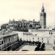 Postales: SEVILLA-CATEDRAL Y PATIO DE BANDERA.LAURENT Nº 71. Lote 217596641