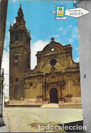 POSTAL * MOGUER, HUELVA , TORRE Y PORTADA IGLESIA PARROQUIAL * 1966 (Postales - España - Andalucia Moderna (desde 1.940))
