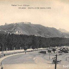 Postales: MÁLAGA.- CASTILLO DE GIBRALFARO. Lote 217787347