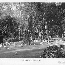 Postales: MÁLAGA.- PARQUE. LOS PALOMOS. Lote 217789237