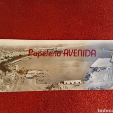 Postales: POSTAL ALMERÍA FOTOGRÁFICA PANORÁMICA DEL PUERTO PUBLICIDAD PAPELERÍA AVENIDA. Lote 219056853