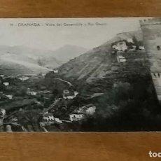 Postales: POSTAL ANTIGUA DE GRANADA VISTA DEL GENERALIFE Y RÍO DAURO. Lote 219178842