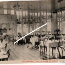 Postales: BONITA POSTAL - MALAGA - HOTEL HERNAN CORTES - COMEDOR DE INVIERNO. Lote 219249633