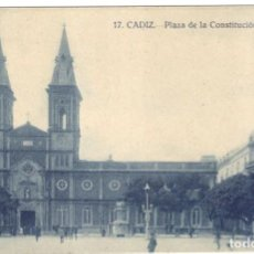 Postales: POSTAL - CADIZ. PLAZA DE LA CONSTITUCIÓN Nº 17 GRAFOS.. Lote 219717116