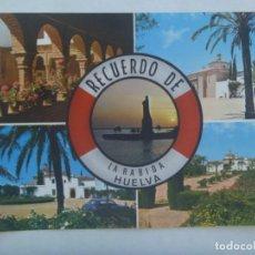 Postales: POSTAL RECUERDO DE LA RABIDA ( HUELVA ) , COSTA DE LA LUZ . AÑOS 60. Lote 219760462