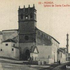 Cartes Postales: MÁLAGA. RONDA, IGLESIA DE SANTA CECILIA Y CALLE REAL ANTIGUA. ANDALUCIA ESPAÑA. Lote 219816773