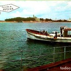 Postales: POSTAL * HUELVA , PUNTA DE SEBO Y MONUMENTO A COLÓN * 1966. Lote 220395401