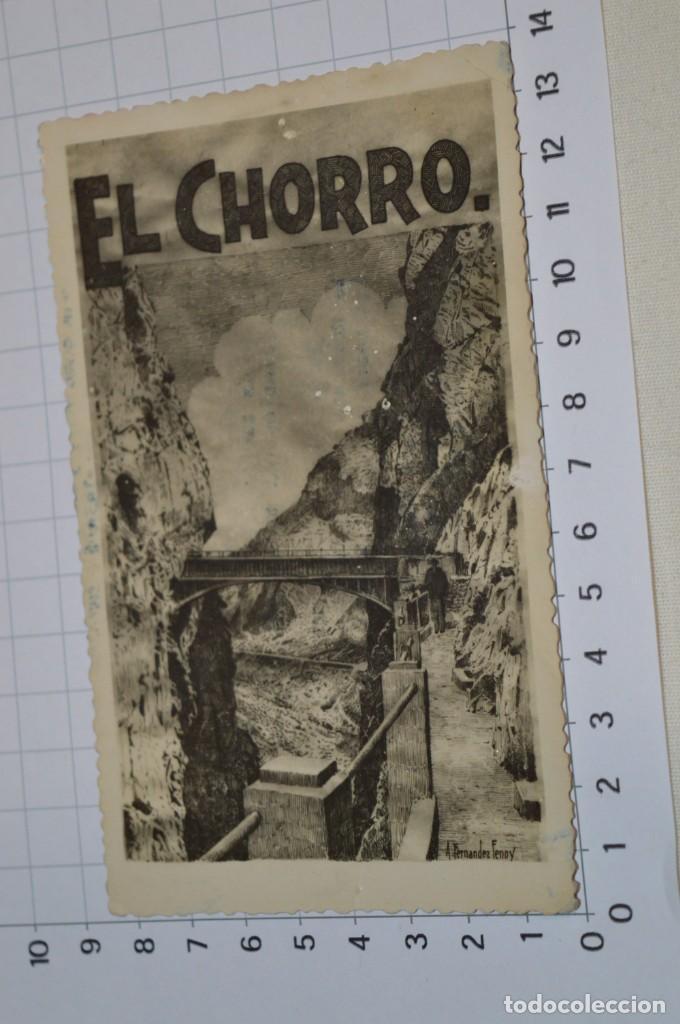 Postales: ANTIGUA / DIFÍCIL POSTAL CIRCULADA - MÁLAGA / EL CHORRO - Dibujo de A. Fernández Fenoy ¡Mira! - Foto 2 - 220426915
